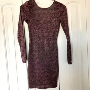 NEW Shimmery Dark Plum Dress